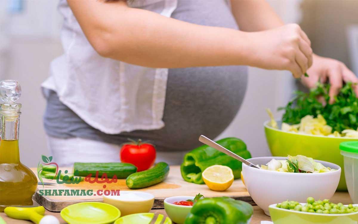 فهرست غذایی مناسب در دوران حاملگی