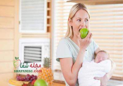 نمونه ای از رژیم غذایی در دوران شیردهی
