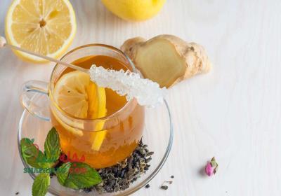 دمنوش چای سبز و زنجبیل برای لاغری