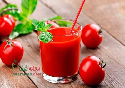 طرز تهیه اب گوجه فرنگی برای لاغری