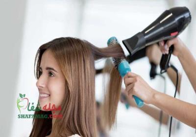 درمان موهای آسیب دیده با سشوار